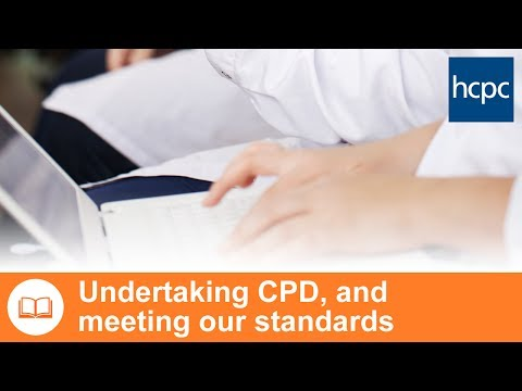 Undertaking CPD, and meeting our standards