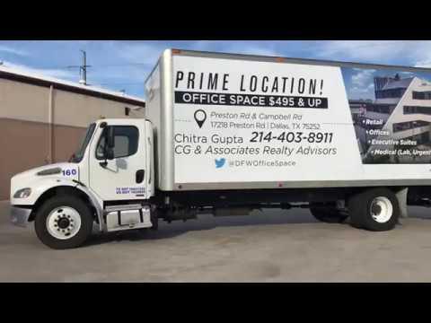 Truck Advertisement - Compass Bank Building