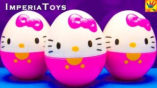 HELLO KITTY HELLO KITTY HELLO KITTY Surprise Egggs Unboxing Toys