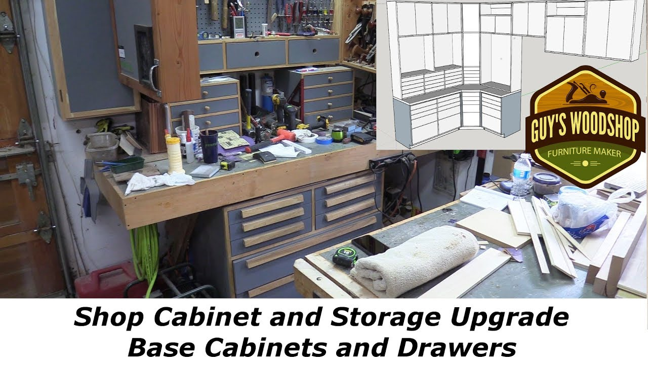 Shop Cabinet Upgrade   Base Cabinets And Drawers   Pt 1