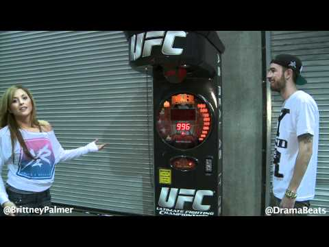 Brittney Palmer Breaks Record On UFC Machine At tasy Factory