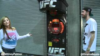 Brittney Palmer Breaks Record On UFC Machine At Fantasy Factory