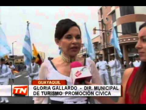 Desfile cívico Guayaquil Independiente es mi destino congregó cientos de personas