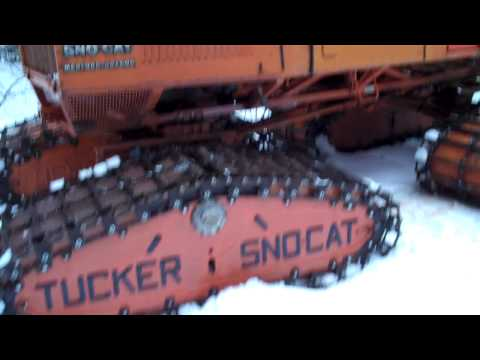 Tucker 542A Sno-Cat on the snow .MP4