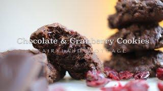 Chocolate & Cranberry Cookies - Vegan - Gluten Free - Fairyland Cottage