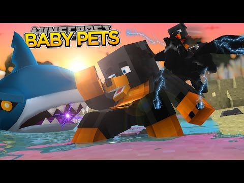 BABY MAX FALLS INTO A SHARK TANK!!!! Minecraft - Donut the Dog Adventures -