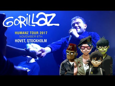 Gorillaz in Stockholm, Hovet (VLOG)