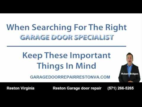 Reston VA Garage Door Repairs And Installs (571) 266 5265