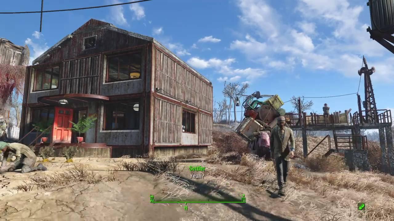 Abernathy House fallout 4 ps4 abernathy farm settlement build - youtube