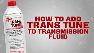 How to add Trans Tune to your transmission - easy! 👌