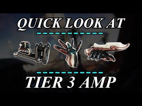 Warframe - Quick Look At: Tier 3 AMP Parts thumbnail