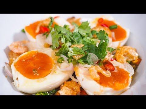 วิธีทำยำไข่เค็มให้อร่อย เมนูไข่ เมนูไข่เค็ม ไข่เค็มทำอะไรได้บ้าง Spicy Salted Egg salad Recipe