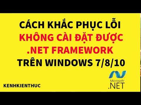 Không Cài được .Net Framework Trên Win 7-8-10 Thì Làm Thế Nào?
