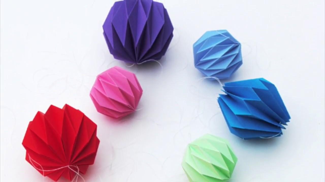 Origami Lantern Garland Youtube