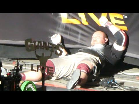 Adam Bishop | 180 kg Log Press FAIL | Europe's Strongest Man 2021