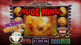 INSANE Session, Biggest EVER Cashout!! Jewel Strike, Wonky Wabbits and more
