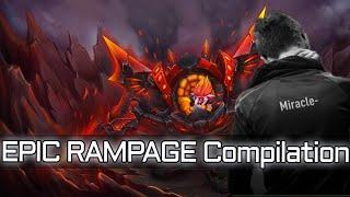 miracle 9k mmr epic rampage compilation dota 2