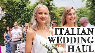 WHAT I WORE for a weekend WEDDING in Italy - Personal Vlog