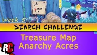 Fortnite WEEK 5 Search Challenge Location (Treasure Map in Anarchy Acres)