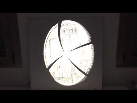 Bitcoin Logo Lamp Display In 3D Bitcoin Lampe