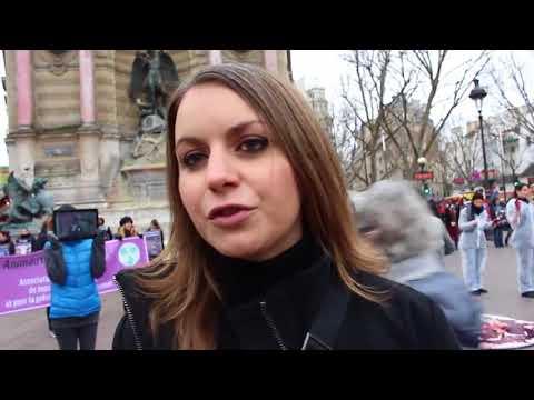 FRANCE PARIS : VIOLENCES DES VEGANS COMPLETEMENT TARES