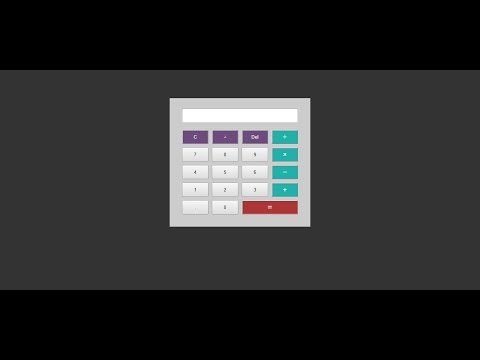 اله حاسبه في 10 دقايق بلغة الجافاسكريبت Html Css Javascript (Calculator)