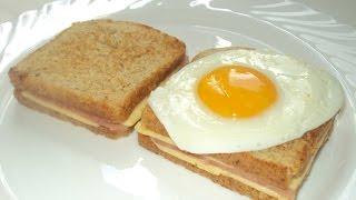 Горячий бутерброд с ветчиной и сыром (Крок-мадам) от шеф-повара /  Илья Лазерсон / Обед безбрачия