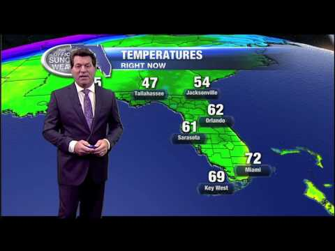 11pm Weather Forecast - January 11, 2017