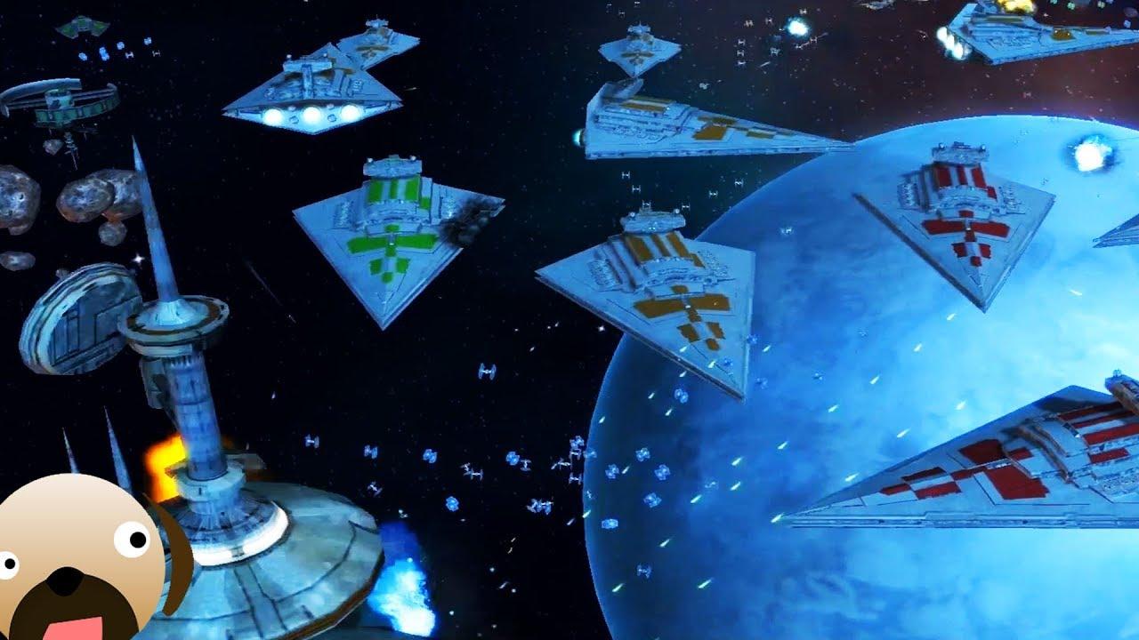 Watching Endless Armada Entering >> Star Wars Empire At War Infinite Units Star Destroyer Armada Youtube