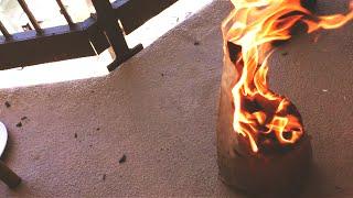 I SET IT ON FIRE!