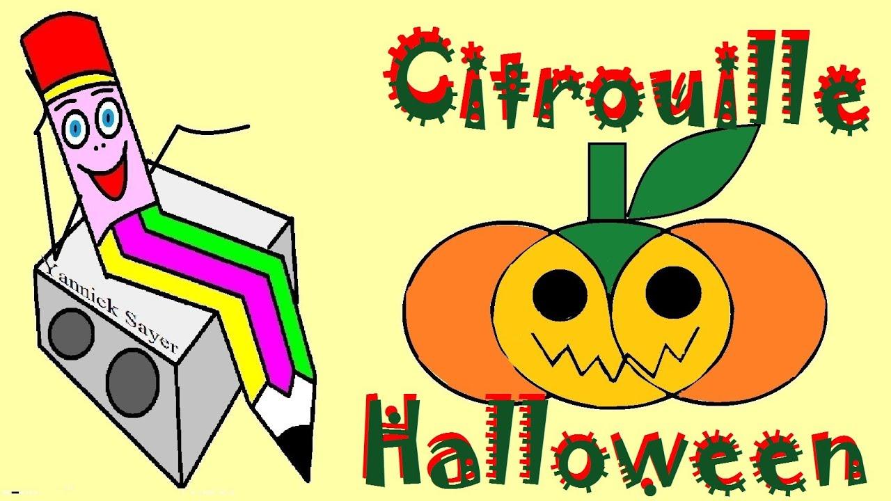 Apprendre à Dessiner Des Fruits : Dessin D'une Citrouille D'Halloween