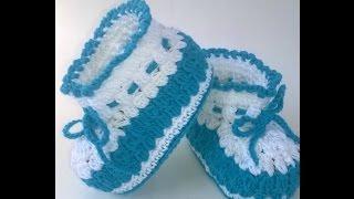 Вязание Пинеток Крючком - видео - 2019 / Knitting Crochet bootees / Stricken Häkeln Schühchen