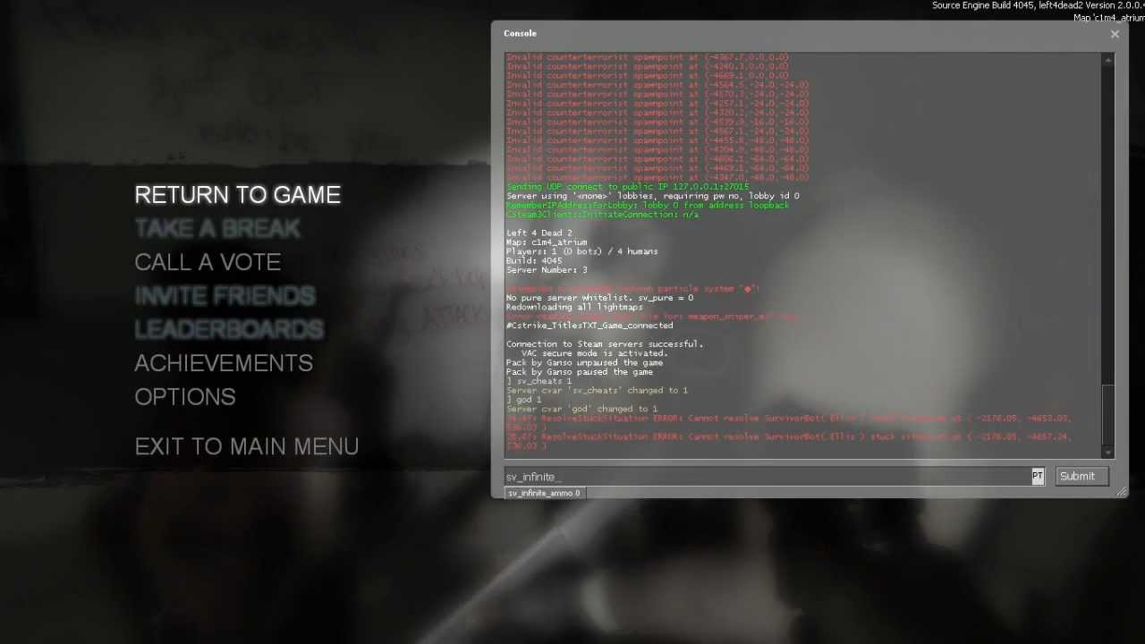 left 4 dead 2 god mode multiplayer