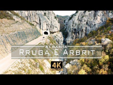 Arbri Road (Rruga e Arbrit) - 🇦🇱 Albania 2019 [Drone Footage] 4K
