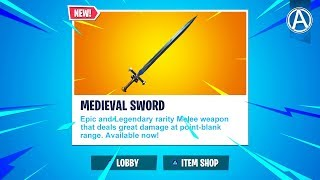 """NEW """"MEDIEVAL SWORD"""" Update! // Pro Console Player // 1700+ Wins (Fortnite Battle Royale LIVE)"""