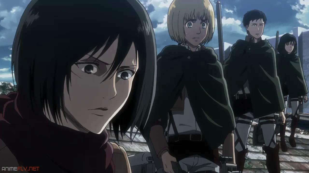 Shingeki No Kyojin Season 3 La Legión De Reconocimiento Usa Las Lanzas Relámpago Youtube