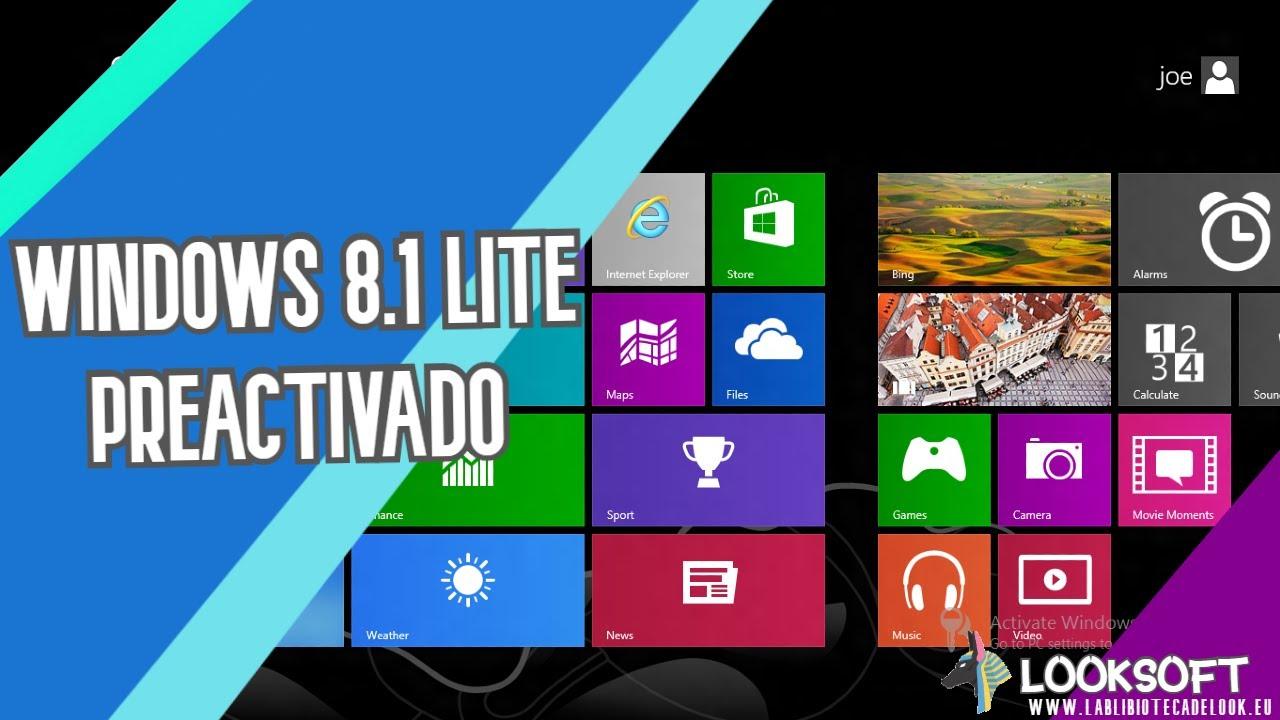 Resultado de imagen para Descargar Windows 8.1 Lite Español Para PC de Bajos Recursos