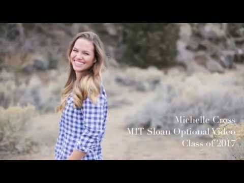 Michelle Cross MIT Sloan Optional Video Essay