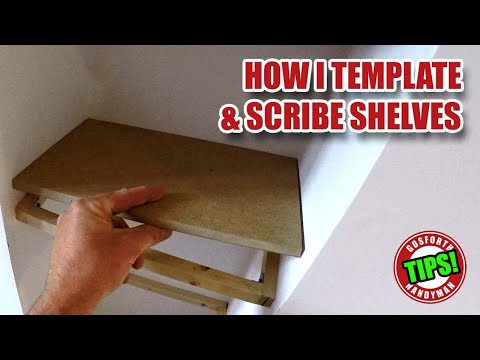 Template & Scribe Shelves, Making Templates for Awkward Angles - GHTL#4 [69]
