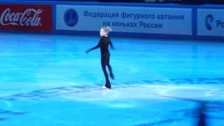 Елена Радионова, тренировка показательного выступления на ЧР 2014