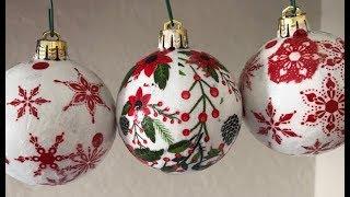 Bola de Natal com Decoupage projeto 4