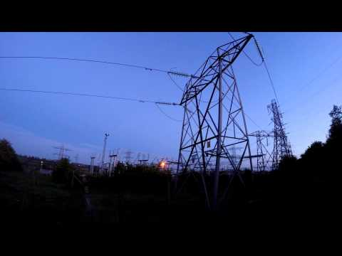 Tandragee Substation, Northern Ireland, in the fading light. Ambient, birdsong, quiet electronic hum