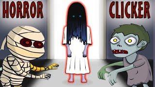 Сражаюсь с ХОРРОР БОССАМИ Приведение Скелет Зомби Самара и Мумия в игре Хоррор Кликер от Cool GAMES