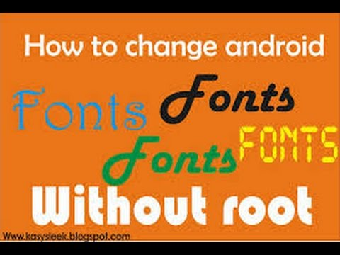 font changer android without root