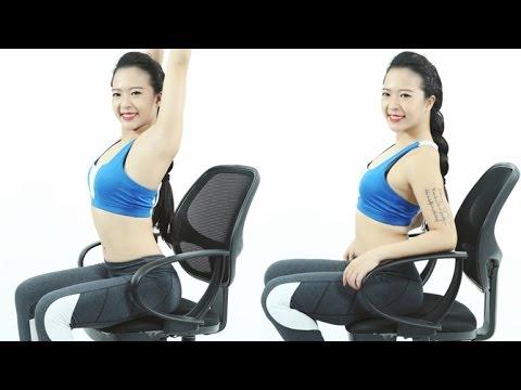 Thánh gym văn phòng – Tập với ghế ngồi văn phòng – Hana Giang Anh