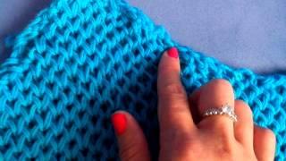 видео Пуловер с рукавами «Соты»