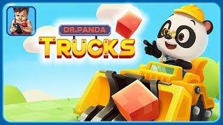 Машинки для детей от Доктора Панды * Управляем спецтехникой на стройке * Dr. Panda Грузовики