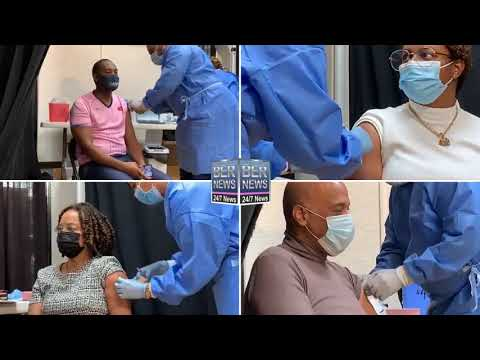 Collage Of Officials Getting Vaccine, Jan 11 2021