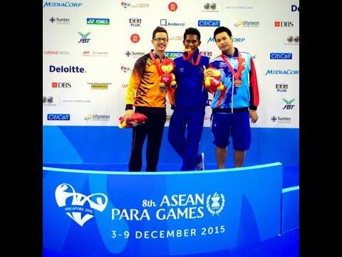 THE WINNER GUNTUR FROM INDONESIA   8TH ASEAN PARA GAMES 2015 (SWIMMING)
