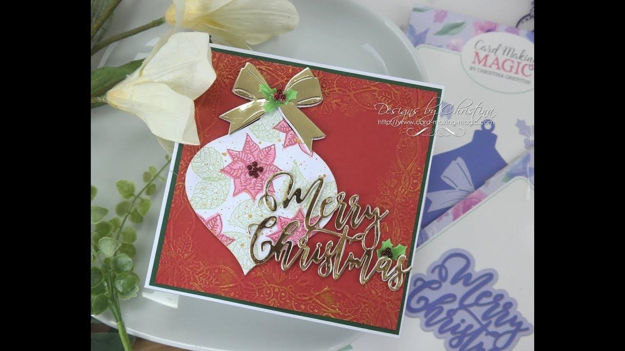 Card Making Magic Christmas Bauble - YouTube